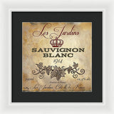 Wine Label Vi Framed Print by Elizabeth Medley - WineProducts.net