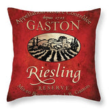 Still Life Wine Label Square V Throw Pillow - WineProducts.net