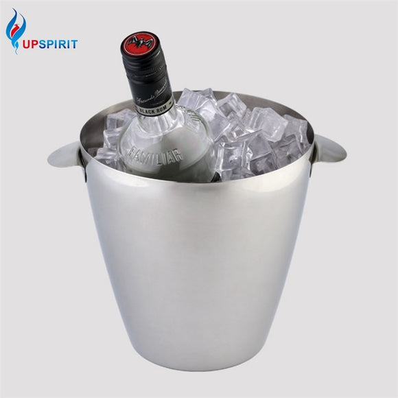 Stainless Steel Large 300ml Ice Bucket with Handles - WineProducts.net