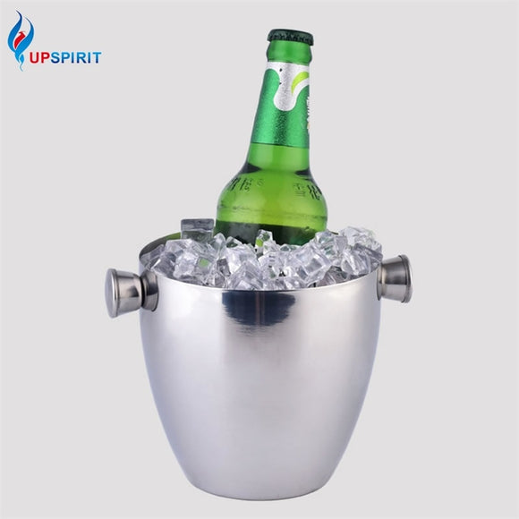 Stainless Steel 1.5L Large Ice Bucket - WineProducts.net