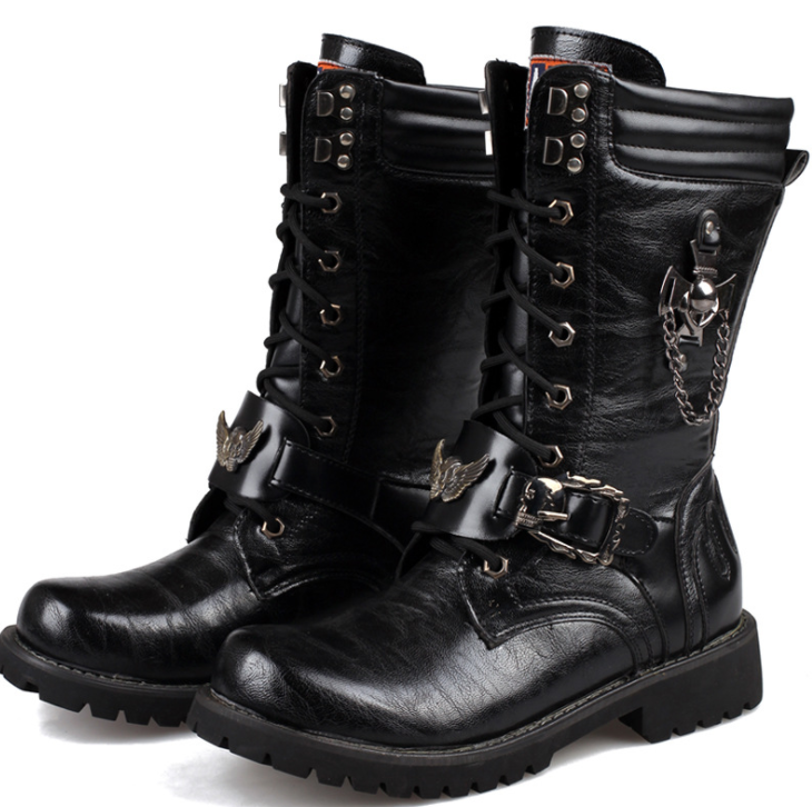 56b5f4f0552 High-top men's boots combat boots military boots Martin boots
