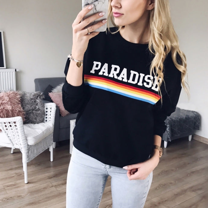 Fashion Round Neck Letter Print Casual Sweatshirts