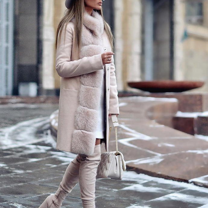 Fashion Long Sleeved Casual Coat