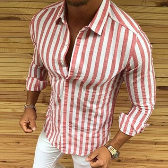 Striped Button Shirt 4 Colors