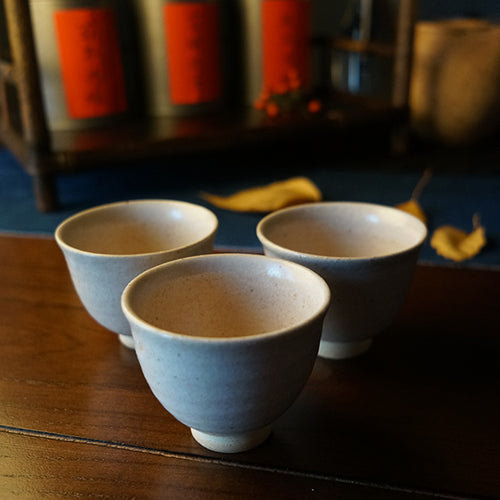 White Glazed Tasting Cups