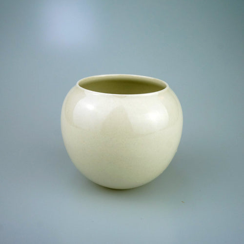 Hand Made Grass Ash Glazed Tea Dregs Container
