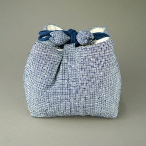 Tea Set Travel Bag Made by Handmade Vintage Fabric