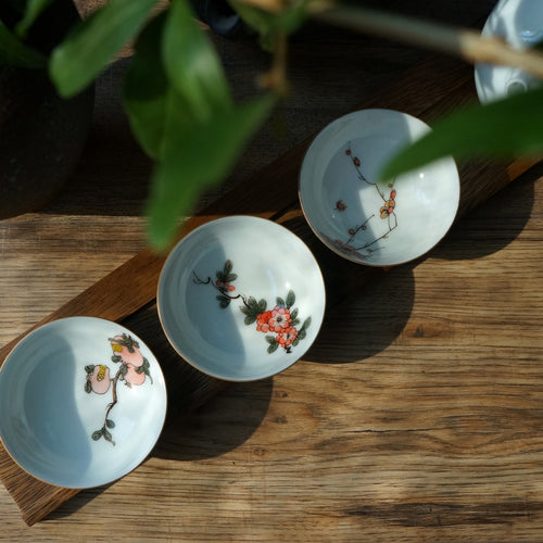 Hand Paint Fruit & Floral Tasting Cup