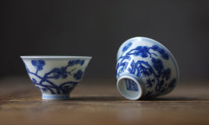 Retro Style Delft Tea Cup Ming Dynasty