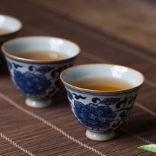 Load image into Gallery viewer, Delft Porcelain Cup Set (Qing Dynasty Inspired)