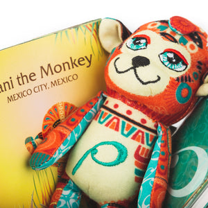 Mini Vani the Monkey - Mexico City, Mexico (Mini Storytelling Kit)