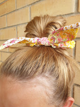 Load image into Gallery viewer, Dolorise Bow Scrunchie Pink/Yellow