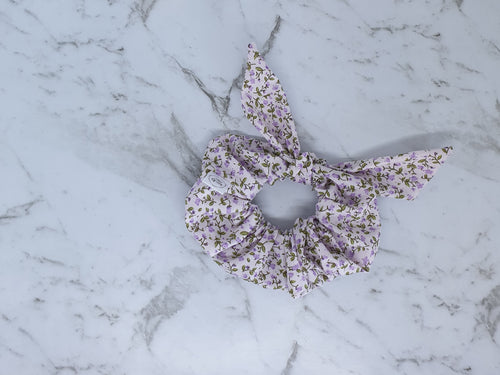 Vintage Bow Scrunchie - Purple