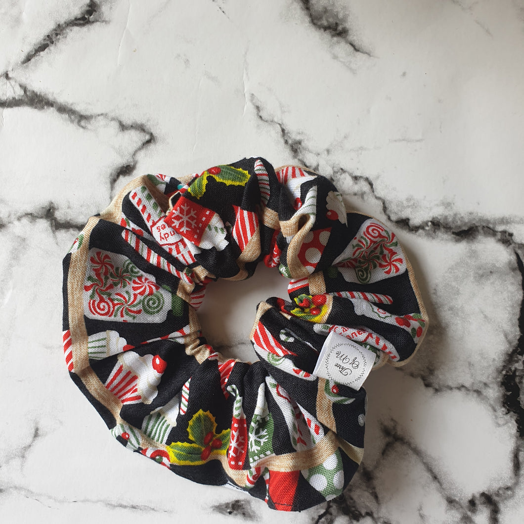 Christmas Candies Scrunchie