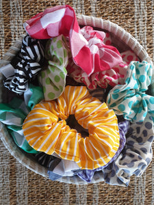 Basic Scrunchies - Orange Gingham