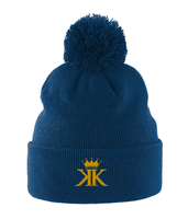 Pom Pom Beanie Embroidered Logo