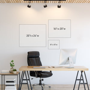 Wall Art Sizing Chart - landscape orientation | Central Coast Canvas