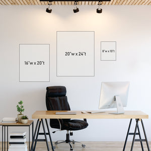 Wall Art Sizing Chart - Portrait Orientation | Central Coast Canvas