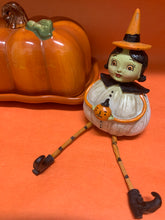Johanna Parker Halloween Pumpkin Witch with legs