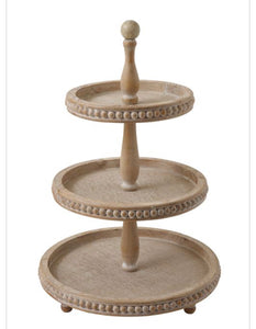 Beautiful Wood 3-Tier Tray