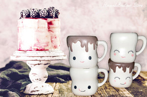 Marshmallow Mug set of 4