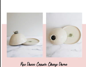 Rae Dunn Crown Cheese Dome