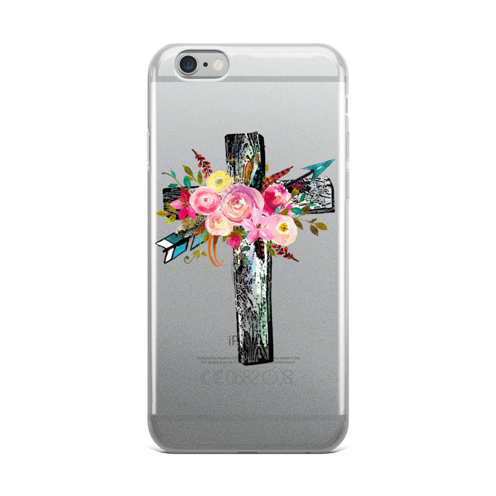 Floral Cross iPhone Case