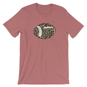 Leopard Football Short-Sleeve Women's T-Shirt