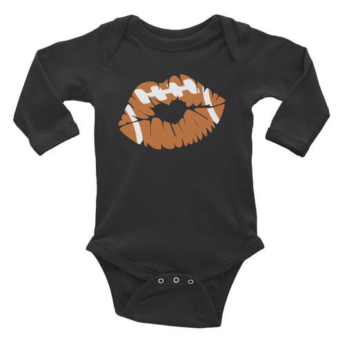 Football Lips Infant Long Sleeve Bodysuit