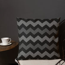 Black Ombre Chevron Premium Pillow