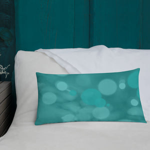 Pink and Turquoise Christmas Tree Premium Pillow
