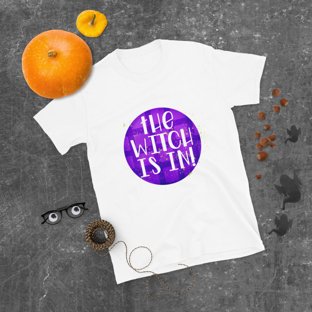 The Witch is In Short-Sleeve Women's Halloween T-Shirt