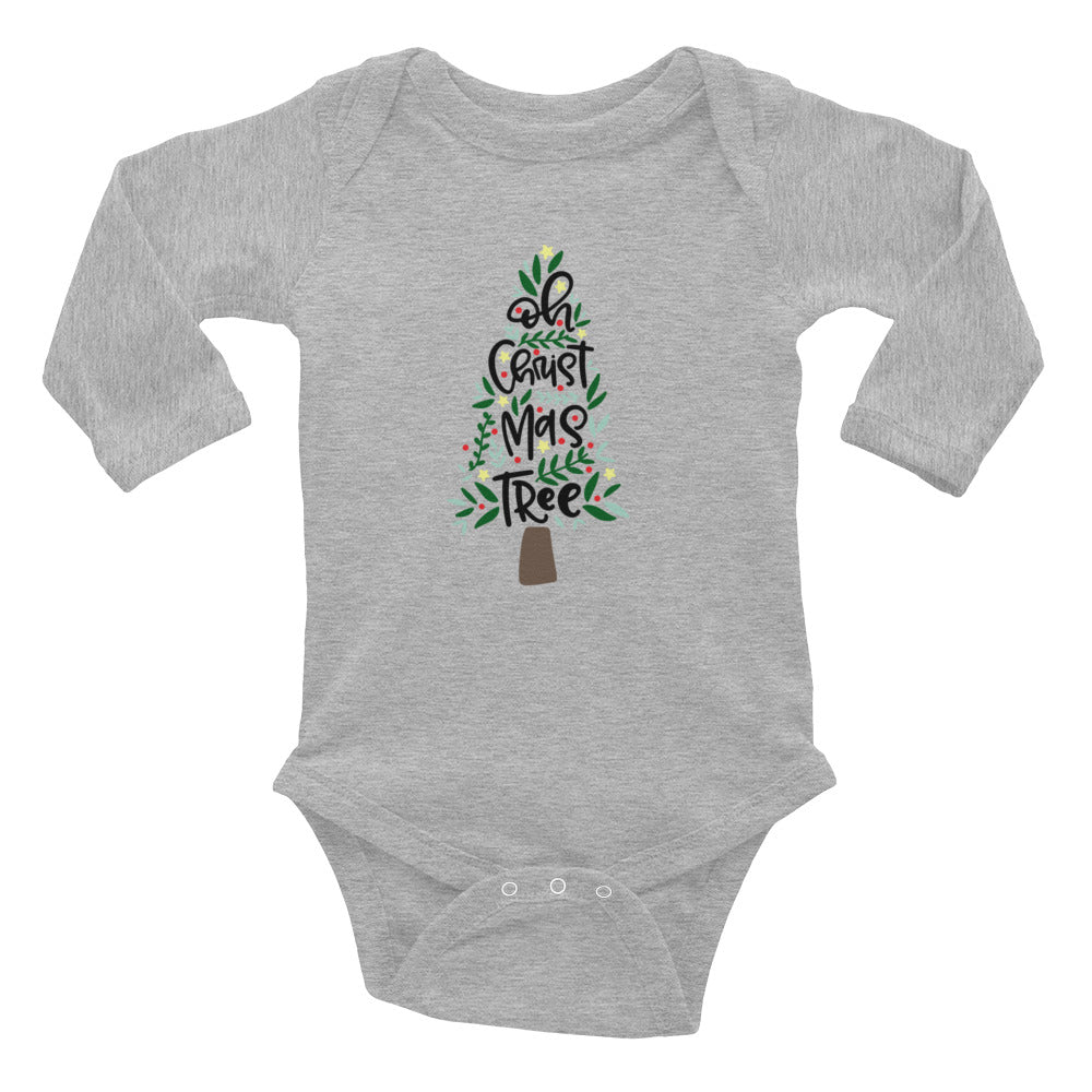 O Christmas Tree Infant Long Sleeve Bodysuit