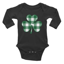 Buffalo Plaid Shamrock Infant Long Sleeve Bodysuit