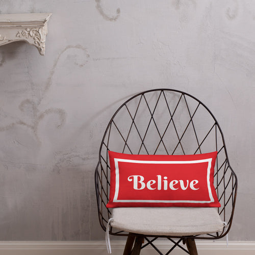 Believe Christmas Premium Pillow