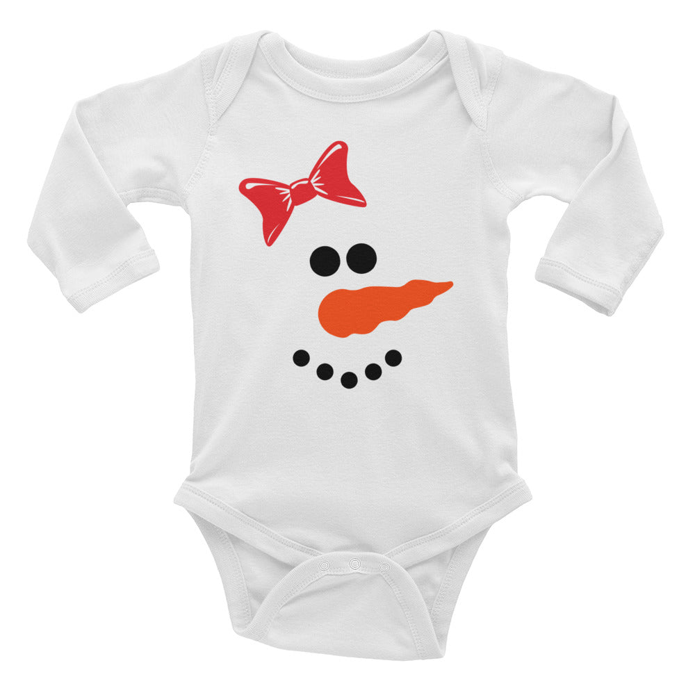 Snow Girl Infant Long Sleeve Bodysuit