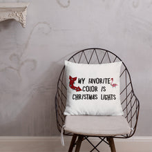 Christmas Lights Premium Pillow