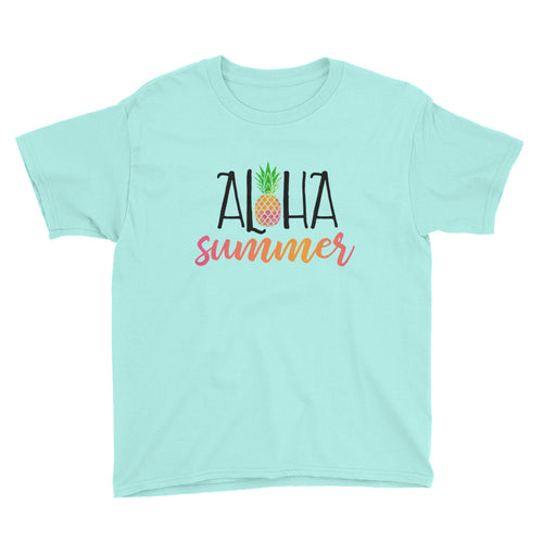 Aloha Summer Kids Short Sleeve T-Shirt