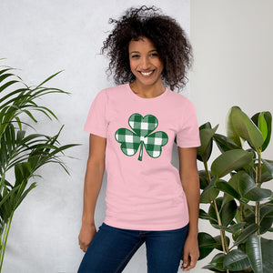 Buffalo Plaid Shamrock Short-Sleeve Women's T-Shirt