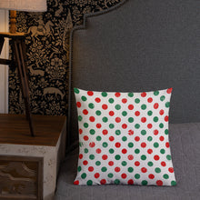 Red and Green Reversible Print Premium Pillow