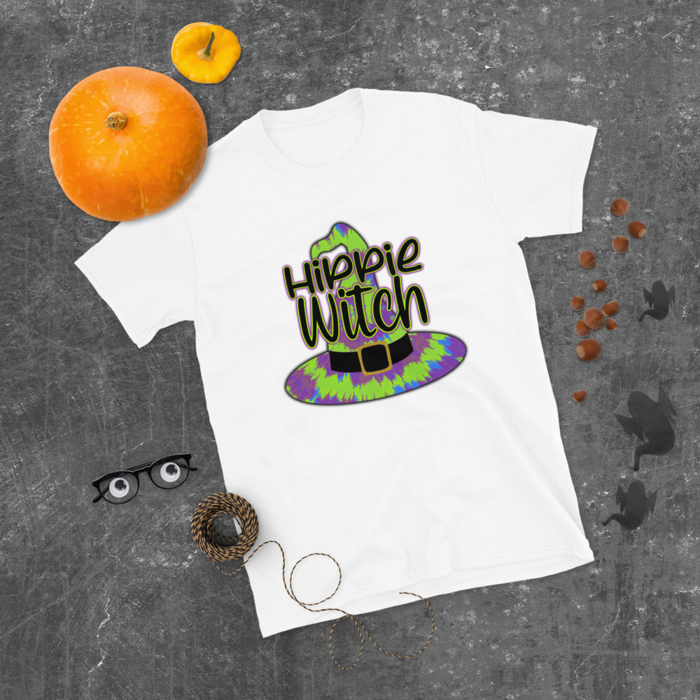 Hippie Witch Tye Dye Short-Sleeve Women's Halloween T-Shirt