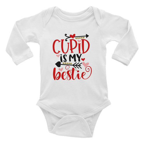 Cupid is my Bestie Infant Long Sleeve Bodysuit