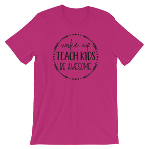 Teach, Be Awesome, Womens Short-Sleeve T-Shirt