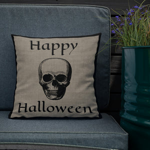 Skull Halloween Premium Pillow