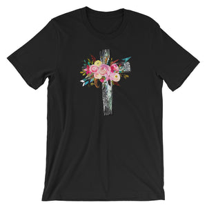 Floral Cross Short-Sleeve T-Shirt