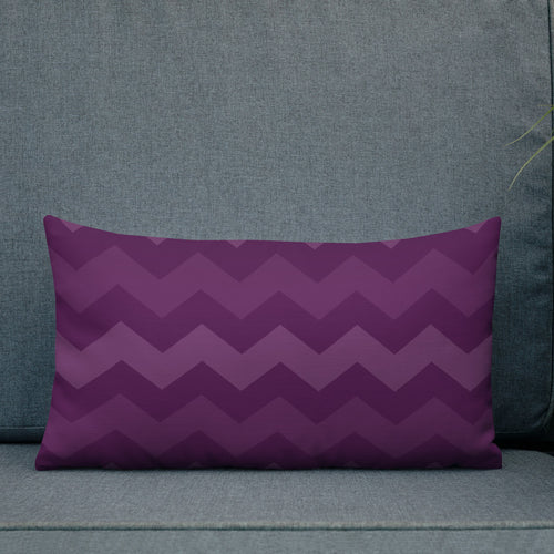 Purple Ombre Chevron Premium Pillow