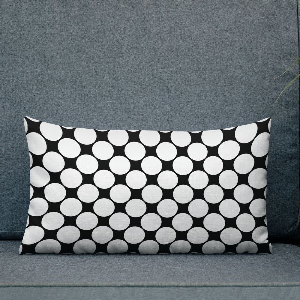 Black Polka Dot Premium Pillow