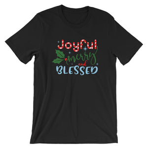 Joyful, Merry and Blessed Short-Sleeve Women's T-Shirt