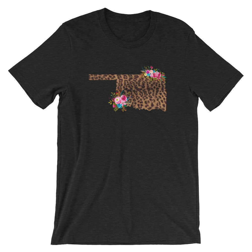 Floral and Leopard Oklahoma T-Shirt