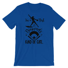 Diamonds and Dirt Girl Short-Sleeve Women's Softball T-Shirt